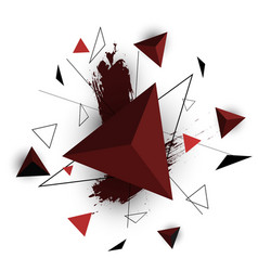 red triangle abstract on white background vector image