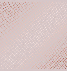Rose gold grid abstract pattern vector