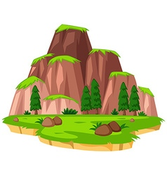 Scene with mountains on island vector