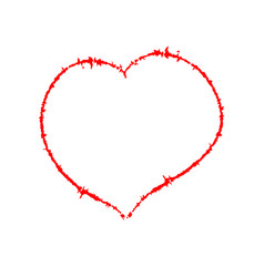 scrawled heart vector image