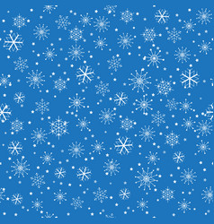 seamless christmas snowflakes pattern vector image