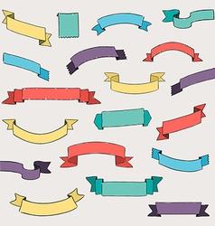 set design elements banners ribbons vector image