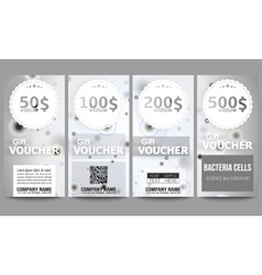 Set of modern gift voucher templates Molecular vector image