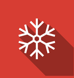 snowflake icon isolated with long shadow vector image
