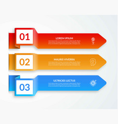 template for infographics with 3 arrows vector image
