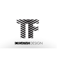 tf t f lines letter design with creative elegant vector image
