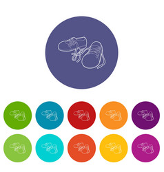 tied shoes joke icon outline style vector image