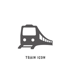 Train icon simple flat style vector