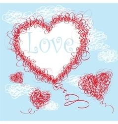 Valentine background vector image