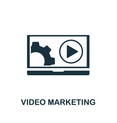 video marketing icon symbol creative sign from vector image