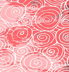 Waves hand drawn pattern background curled pink vector image