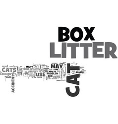 Whattodoaboutlitterboxaccidents text word cloud vector