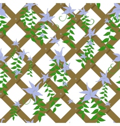 wicker with blue flowers vector image