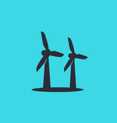 Wind turbines icon vector