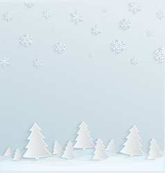 winter holiday background paper background with vector image