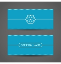 Blue Envelope Template vector image vector image