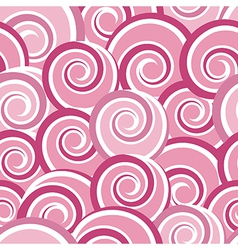 Pink abstract seamless pattern with swirls vector image
