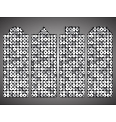 Price tag tag with shiny silver sequin Eps 10 vector image vector image
