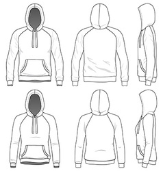 Raglan hoodie vector image vector image