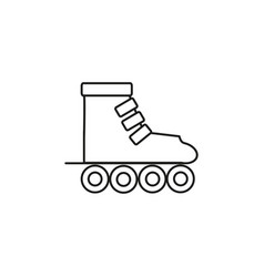 roller icon vector image vector image