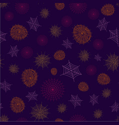 spider web pattern vector image vector image