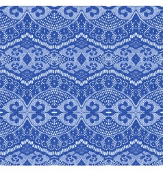 blue seamless lace vector image