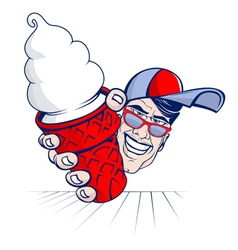 ice cream boy vector image vector image