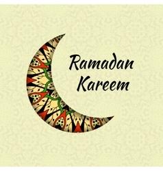 Ramadan Kareem greeting design background vector image