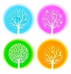seasons trees vector image vector image