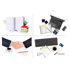 big set of office backgrounds vector image