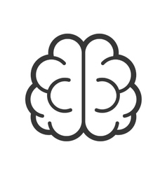 Brain Logo Icon on White Background vector image