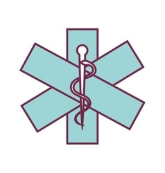 caduceus sign isolated icon vector image
