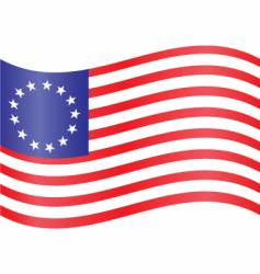 colonial flag vector image
