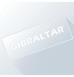 Gibraltar unique button vector