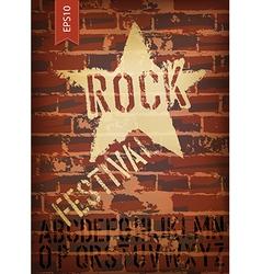 rock festival template vector image