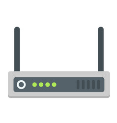 router flat icon internet and wireless wifi vector image