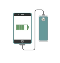 smartphone charging with power bank vector image