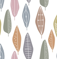 Tree leaves abstract pattern vector image vector image