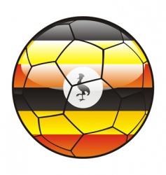 uganda flag on soccer ball vector image vector image