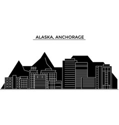 usa alaska anchorage architecture city vector image