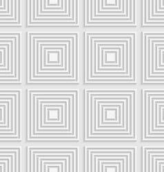 White squares on white tile ornament vector image vector image
