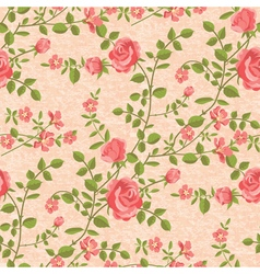 Bloomen roses seamless pattern vector image vector image