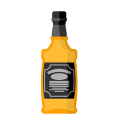 bottle of whiskey bourbon isolated tequila on vector image