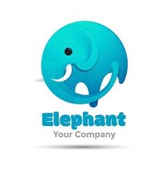 Elephant big Logo for business template design vector image