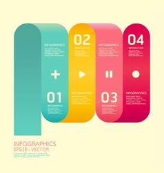 Modern Curve soft color Design template vector image vector image