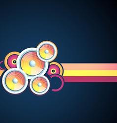 music speaker vector image