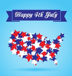 4th of July Card vector image