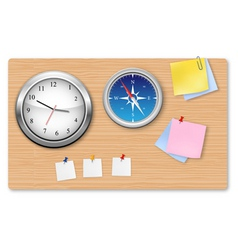 a wall office clock compass vector image