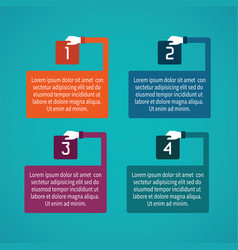 abstract 4 steps infographic template in flat vector image