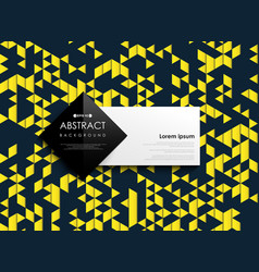 Abstract luxury blue and yellow triangle vector